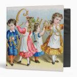 A Merry Christmas', Victorian postcard Vinyl Binders