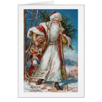 """A Merry Christmas"" Vintage Card"