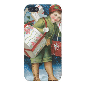 A Merry Christmas Vintage Card Design iPhone SE/5/5s Cover