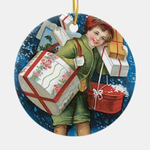 A Merry Christmas Vintage Card Design Ornament