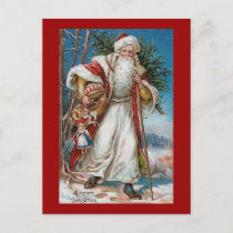 """A Merry Christmas"" Vintage Holiday Postcard"