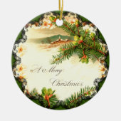 A Merry Christmas Vintage Ornament