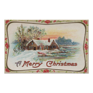 A Merry ChristmasA Country Scene Posters