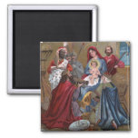 A Merry ChristmasNativity Scene 2 Inch Square Magnet