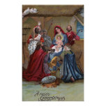 A Merry ChristmasNativity Scene Poster