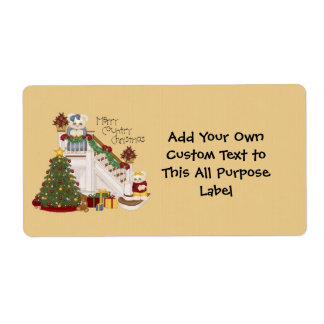 A Merry Country Christmas All Purpose Label