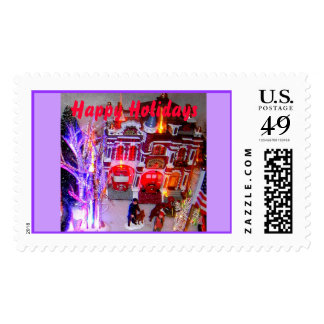 A Merry Firestation, Happy Holidays Stamp