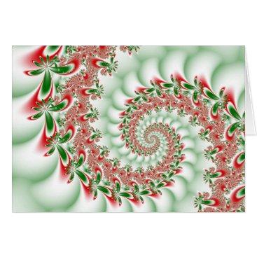 Christmas Themed A Merry Fractal Christmas! Card