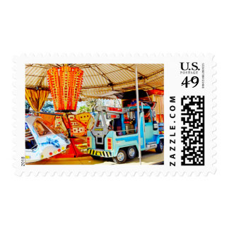 A Merry Go 'Round at the Market Stamp
