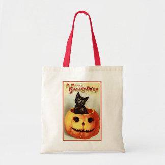 A Merry Halloween Canvas Bags