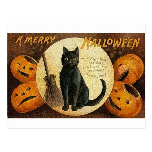 A Merry Halloween Cat Card