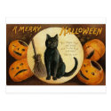 A Merry Halloween Cat Card Postcard