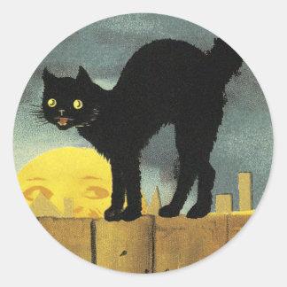 A Merry Halloween Classic Round Sticker