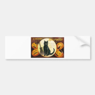 A Merry Halloween - Ellen Clapsaddle Bumper Sticker