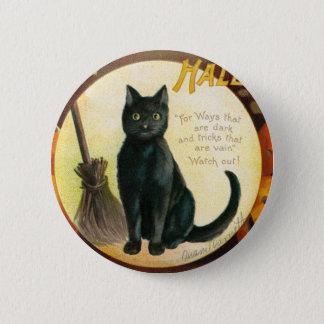 A Merry Halloween - Ellen Clapsaddle Button