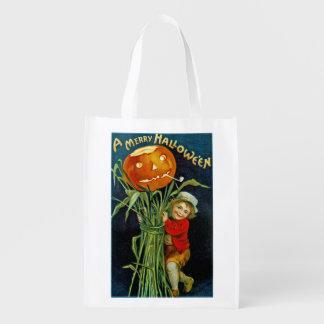 A Merry Halloween Grocery Bag