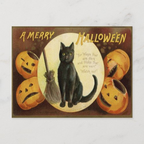 A Merry Halloween Holiday Postcard