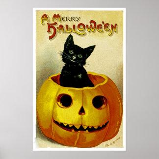 A Merry Halloween Kitten Posters