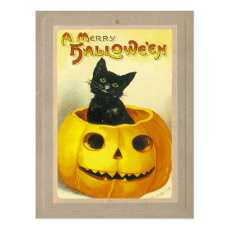 A Merry Hallowe'en Postcard