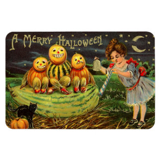 """A Merry Halloween"" Vintage Image Vinyl Magnets"