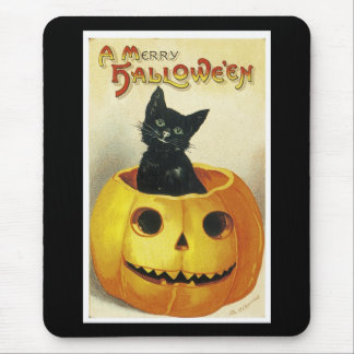A Merry Haloween Kitten Mouse Pad