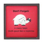 A Merry Heart Doeth Good Like a Medicine Premium Keepsake Boxes