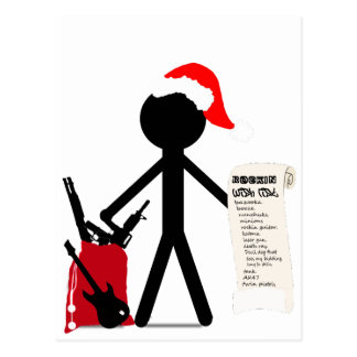 A Merry Stickman Xmas Postcard