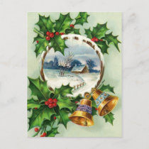 A Merry, White Christmas Holiday Postcard