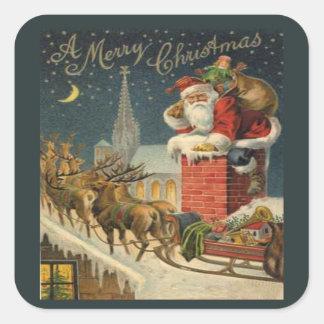 A Merry Xmas Square Sticker