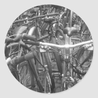 A mess of bikes classic round sticker
