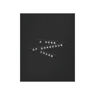A Mess Of Gorgeous Chaos Embossed Labels Canvas Print