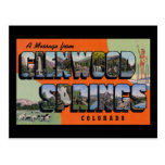 A Message from Glenwood Springs Colorado Post Card