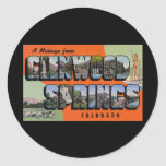 A Message from Glenwood Springs Colorado Round Sticker