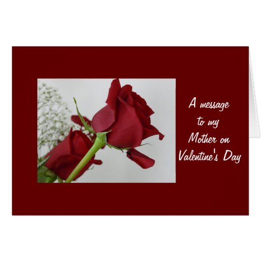 A message to my Mother Valentines Day Card – Message in Valentines Card