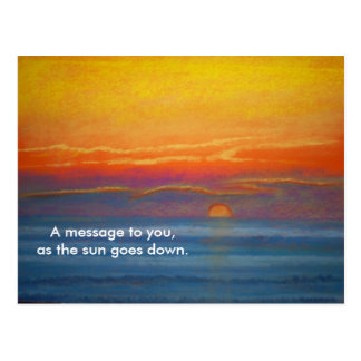 A message to you post card