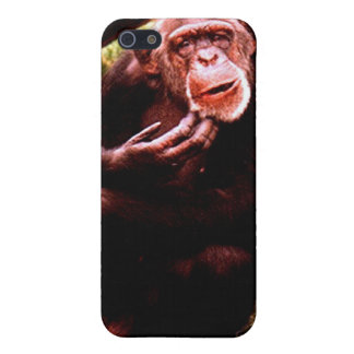 A messed up looking chimp. cover for iPhone SE/5/5s