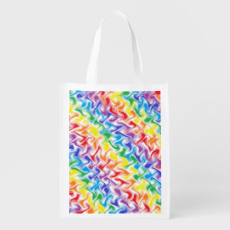 A Messy Rainbow Reusable Grocery Bag