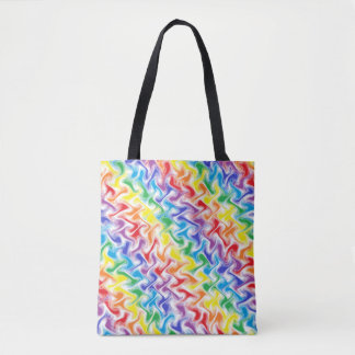 A Messy Rainbow Tote Bag