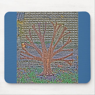 A Metal Tree in The Court Yard of Wonders Mouse Pad