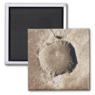 A meteorite impact crater magnet