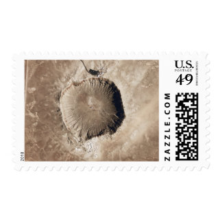 A meteorite impact crater postage