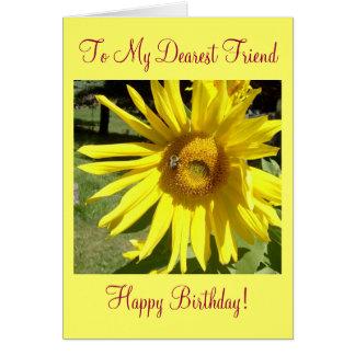 ¡A mi amigo más estimado, feliz cumpleaños! Tarjeta De Felicitación