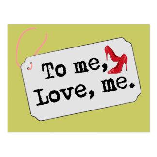 A mí, amor, yo (talones) postales