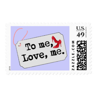 A mí, amor, yo (talones) sello