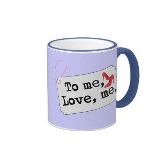 A mí, amor, yo (talones) taza de dos colores