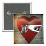 A mi botón del cuadrado del corazón pin