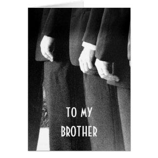 A MI BROTHER EN SU DÍA DE BODA CON AMOR TARJETON