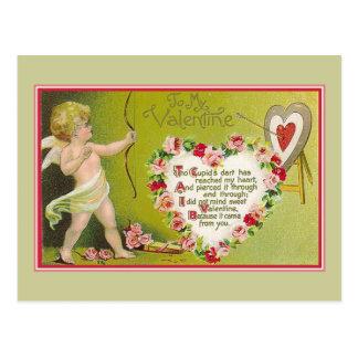 A mi dardo de los Cupids de la tarjeta del día de Tarjetas Postales