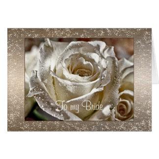 A mi día de boda de la novia o del marido tarjeta de felicitación