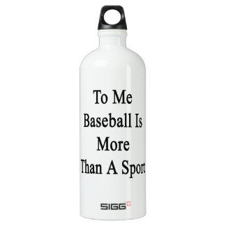 A mí el béisbol es más que un deporte